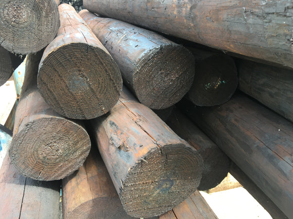 4 - 5 X 8 CREOSOTE FENCE POSTS
