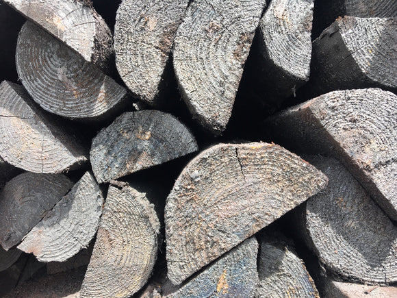 5 - 6 X 7 CREOSOTE SPLIT FENCE POST