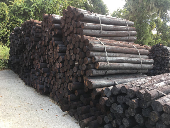 4 - 5 X 7 CREOSOTE FENCE POSTS