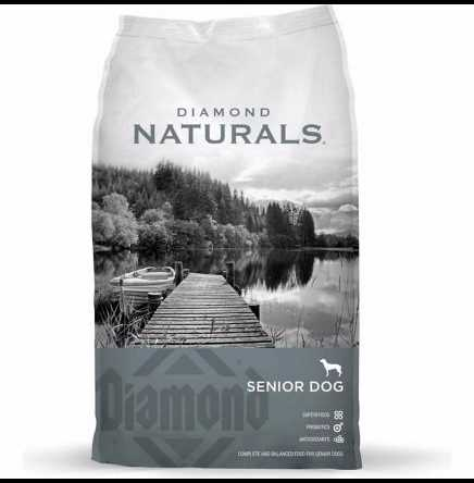 Diamond Naturals Senior Dog Dry Food Chicken, Egg & Oatmeal Formula