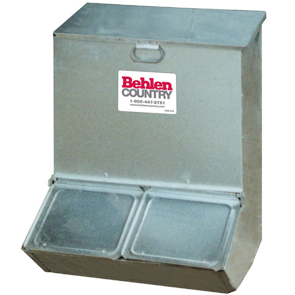 BEHLEN ECONOMY HOG FEEDER, TWO HOLE PIG FEEDERS