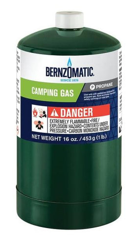 BERNZOMATIC DISPOSABLE PROPANE CAMPING GAS, 16.4 OZ, CYLINDER CONTAINER