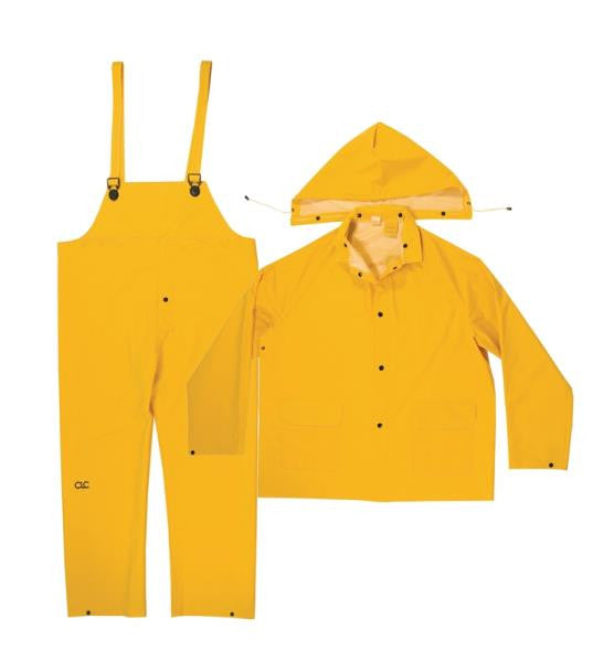 CLIMATE GEAR 3-PIECE YELLOW RAIN SUIT