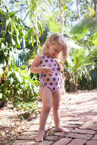 Rich Hippies® Sleeveless Leotard in Pink