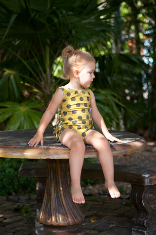Rich Hippies® Sleeveless Leotard in Ochre