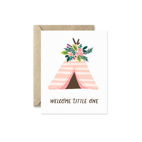 "August and Oak ""Welcome Little One"" Card"