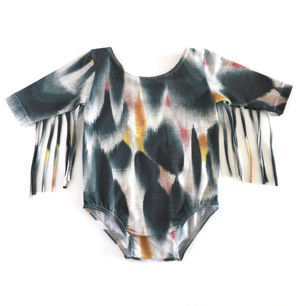 Rich Hippies® Ojai Fringe Leotard with Sleeves