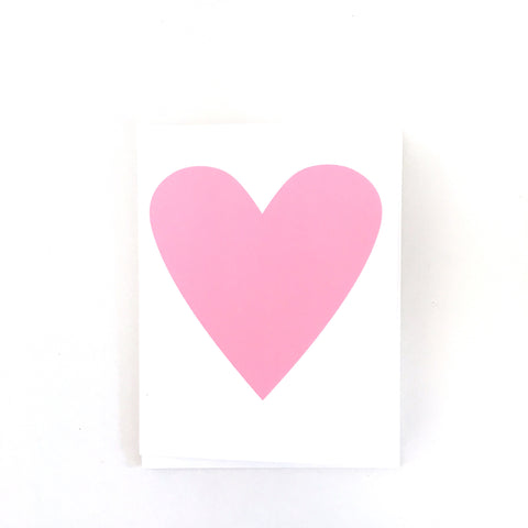 Baby Pink Heart Card