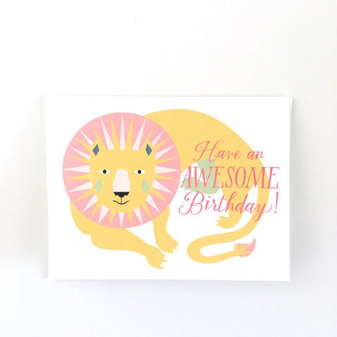 Awesome Birthday Lion Card