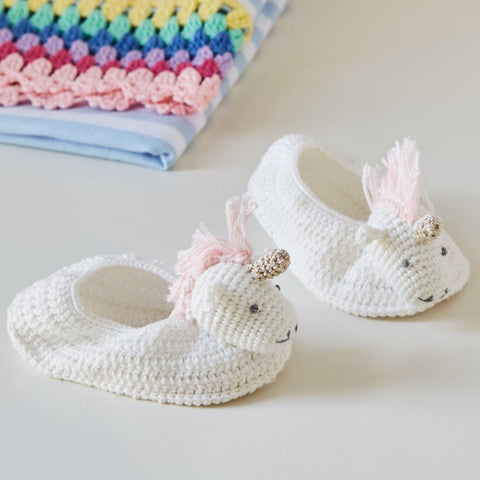 Crocheted Unicorn Booties