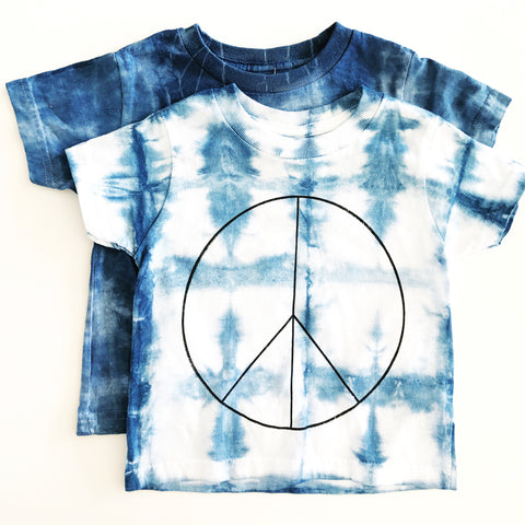 Rich Hippies® OOAK Hand Dyed Peace Tee - Shibori