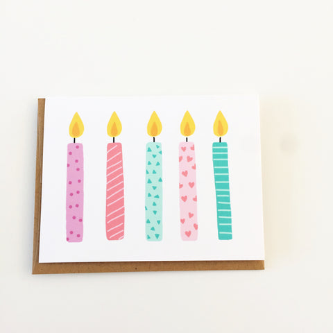 "August and Oak ""Five Candles"" Card"