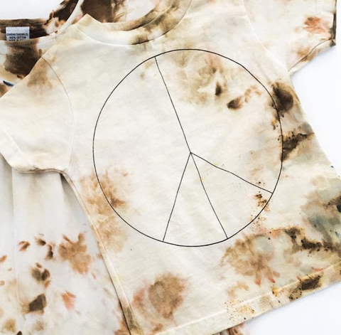 Rich Hippies® OOAK Hand Dyed Peace Tee - Ochre
