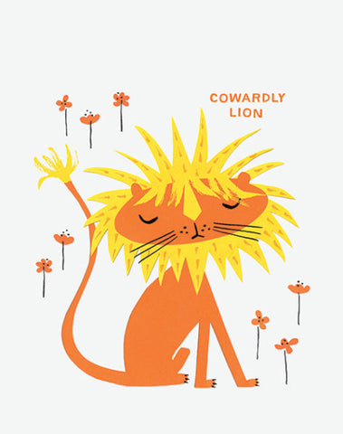 "Alison Oliver ""Cowardly Lion"" Art Print"