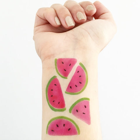 Love + Lion Watermelon Tattoo Set