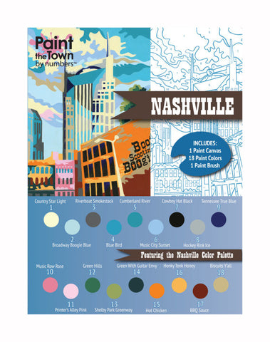 Nashville- Paint by Number Kit