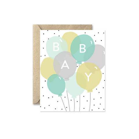 "August and Oak ""Baby Balloons"" Blue"