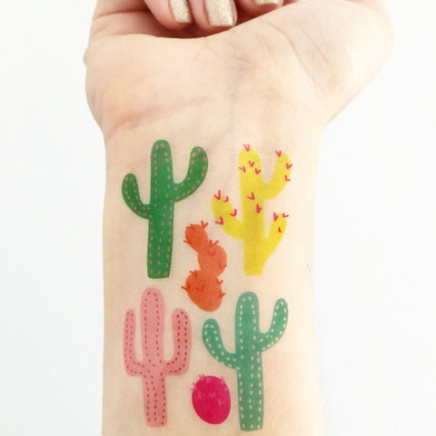 Love + Lion Cactus Tattoo Set