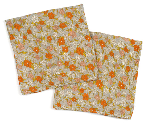 Milkbarn Burpee Bundle: Grey Orange Floral