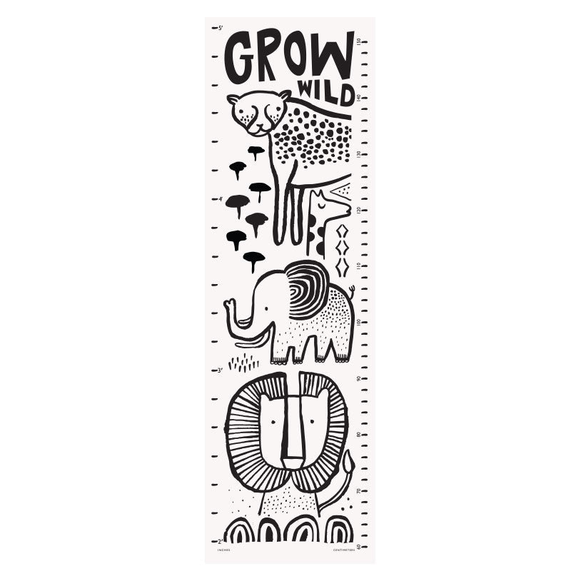 Grow Wild Organic Growth Chart with Pouch