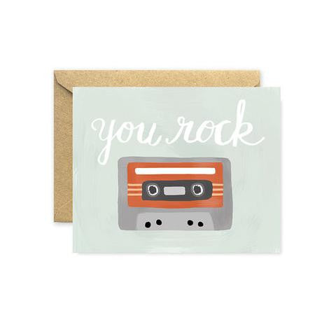 August and Oak: You Rock Greeting Card