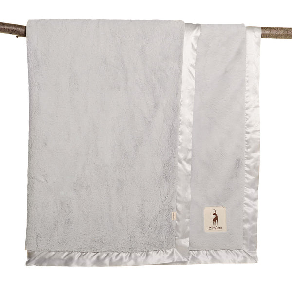 plushAboo | Large Blanket - Solid Silver