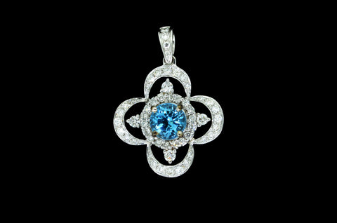 Blue Cruciform Pendant