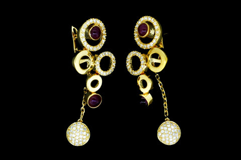 Ruby Eyes Earrings