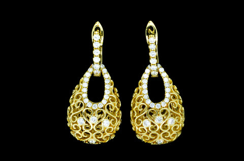Diamond Purse Earrings