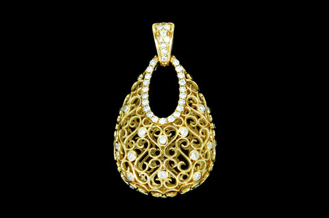 Diamond Purse Pendant