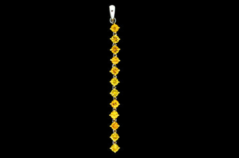 Abstract Yellow Pendant