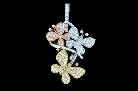 Floral Buttery Pendant