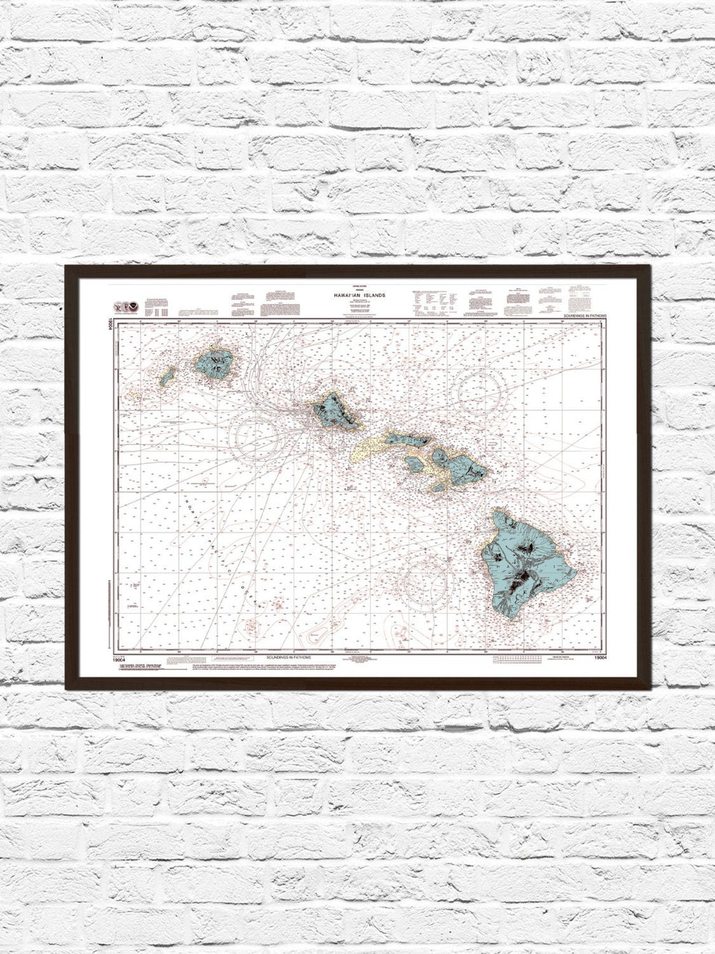 picture relating to Printable Map of Hawaiian Islands known as Hawaii Nautical Map Artwork Print ParMar Media