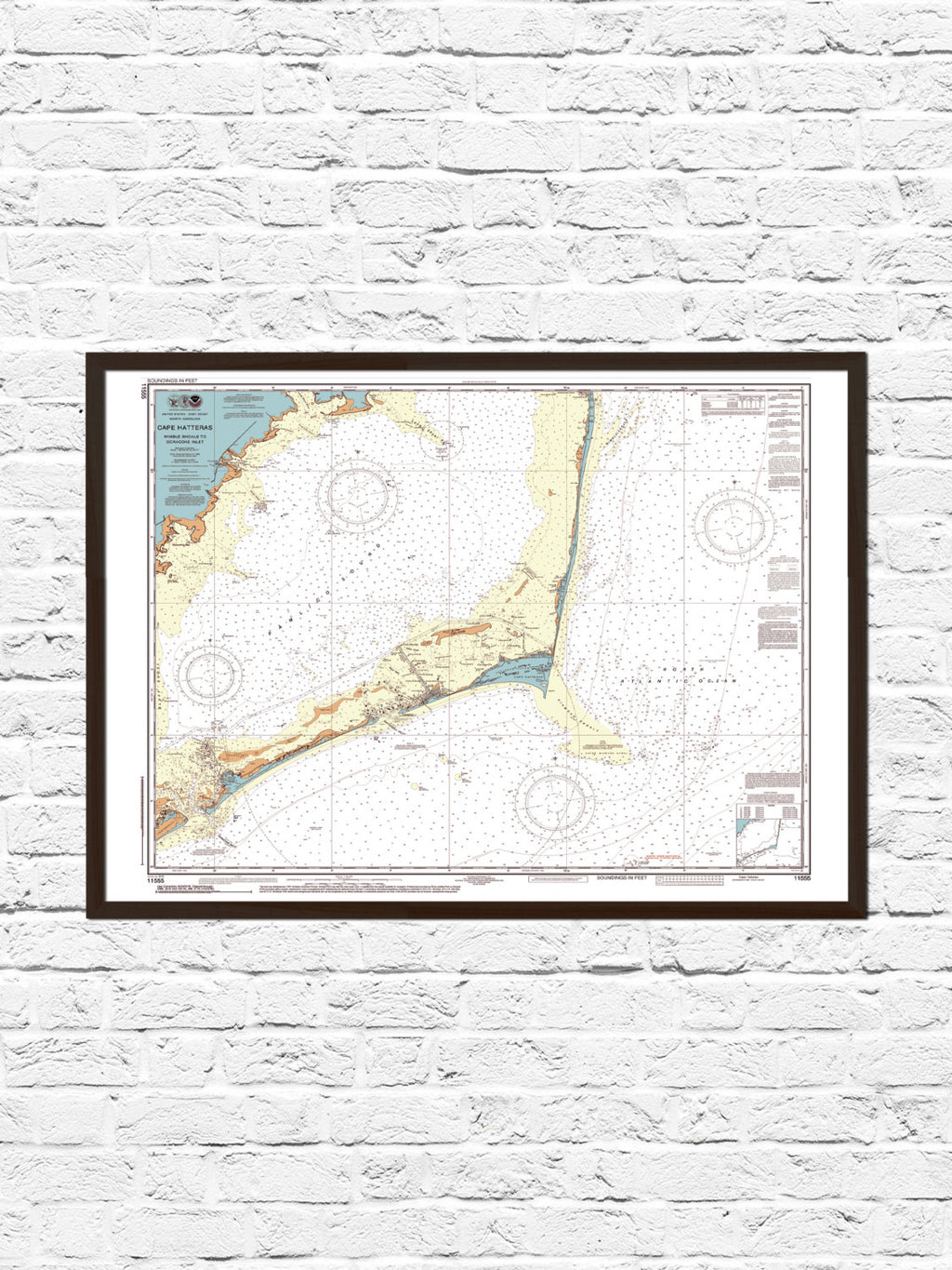 Cape Hatteras North Carolina Map Print - ParMar Media - 1