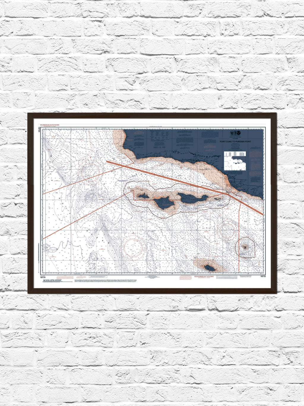 Channel Islands Nautical Chart Map Art Poster Print, Channel Islands California Print, California Art,  California Map, Channel Islands Map