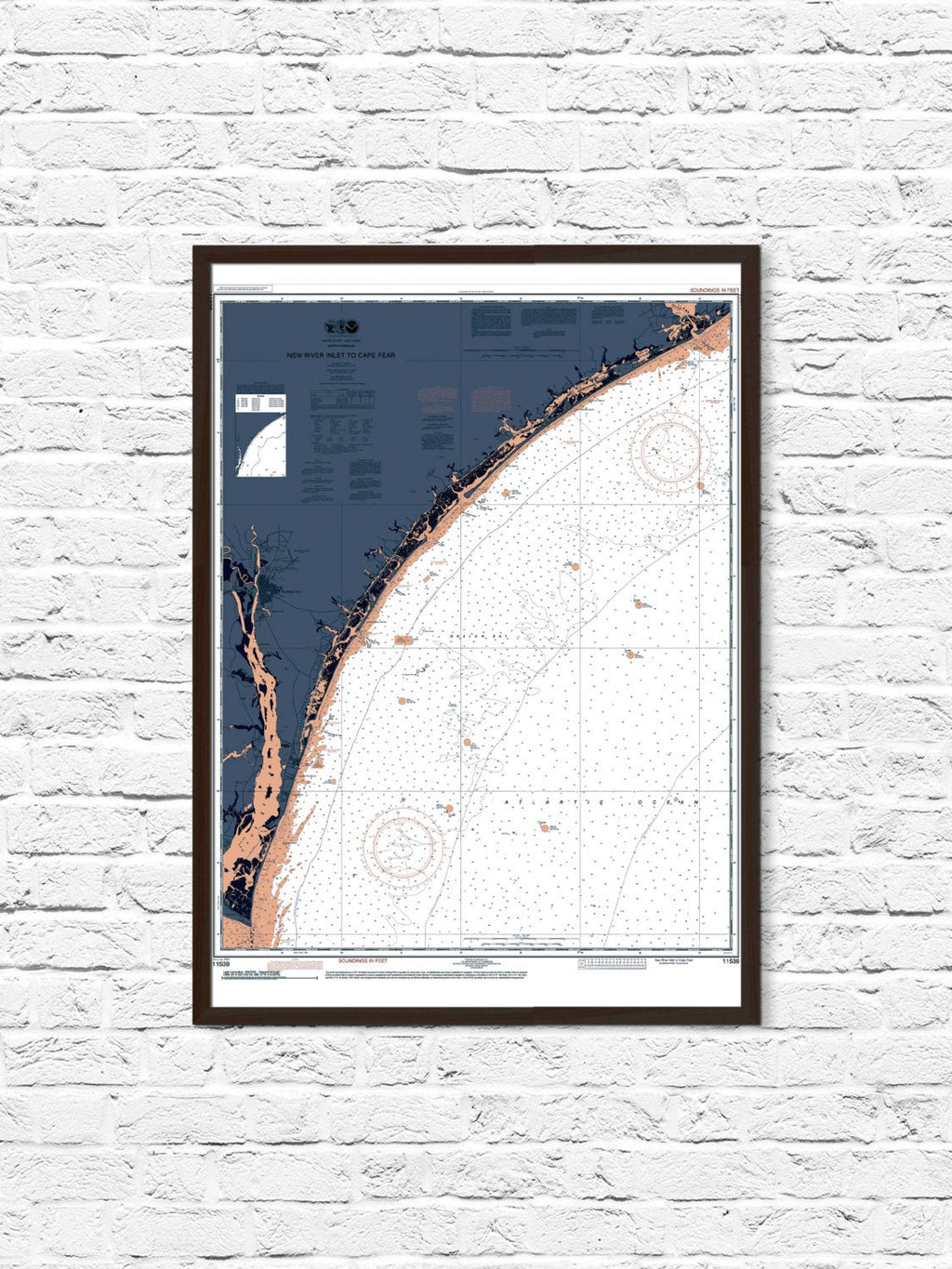 Cape Fear North Carolina Poster Print - ParMar Media - 1