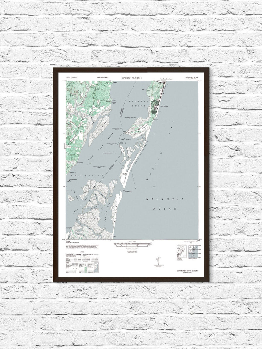Kure Beach - Fort Fisher Map - ParMar Media - 1