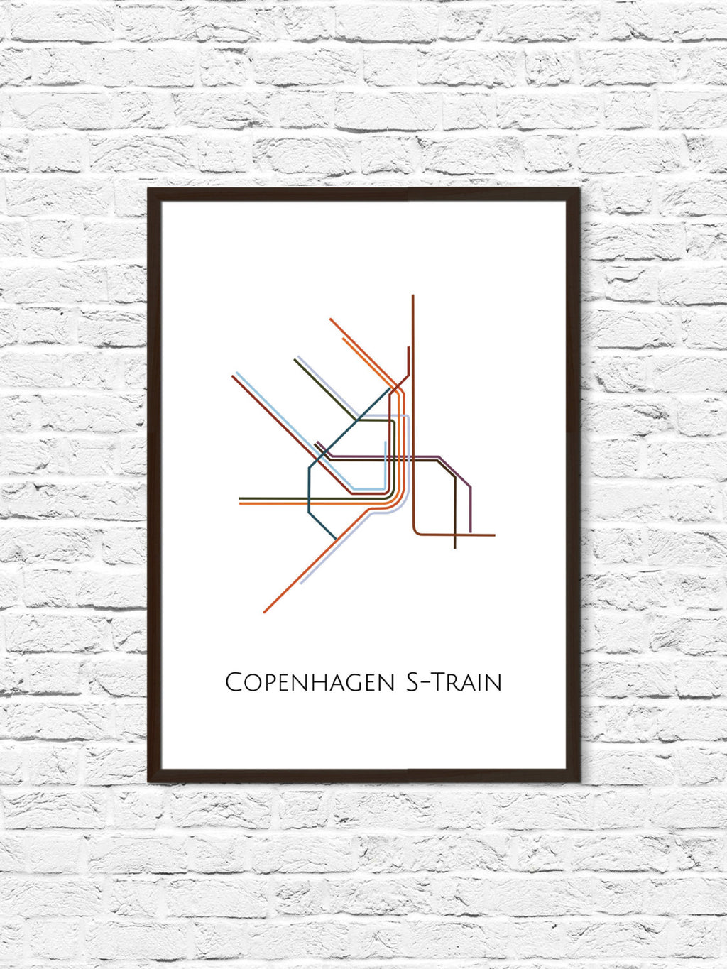 Copenhagen S-Train Metro Map - ParMar Media
