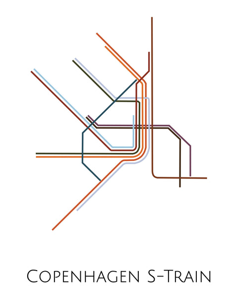 Copenhagen S-Train Metro Map - ParMar Media - 2
