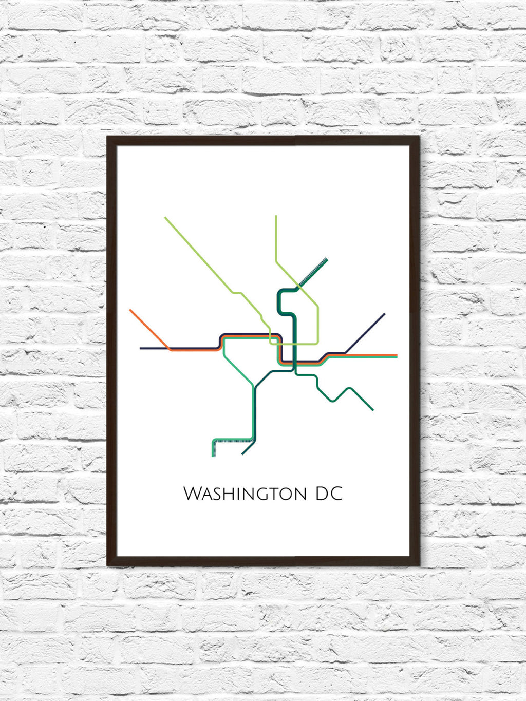 Washington DC Subway Map - ParMar Media - 1