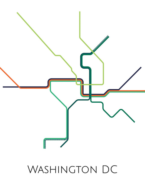 Washington DC Subway Map - ParMar Media - 2