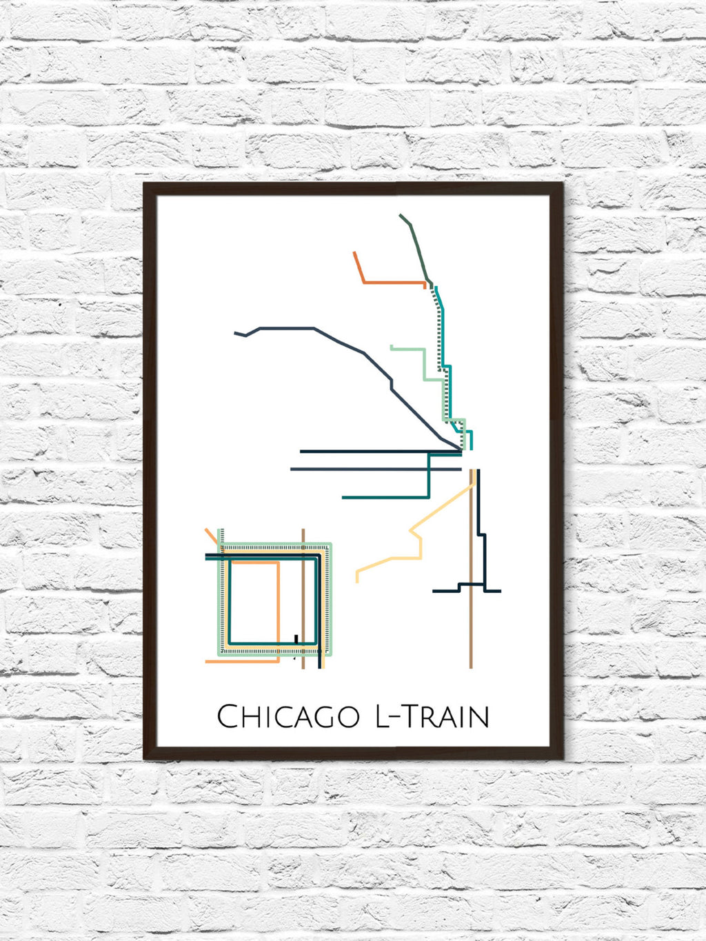 Chicago L-Train Metro Map - ParMar Media