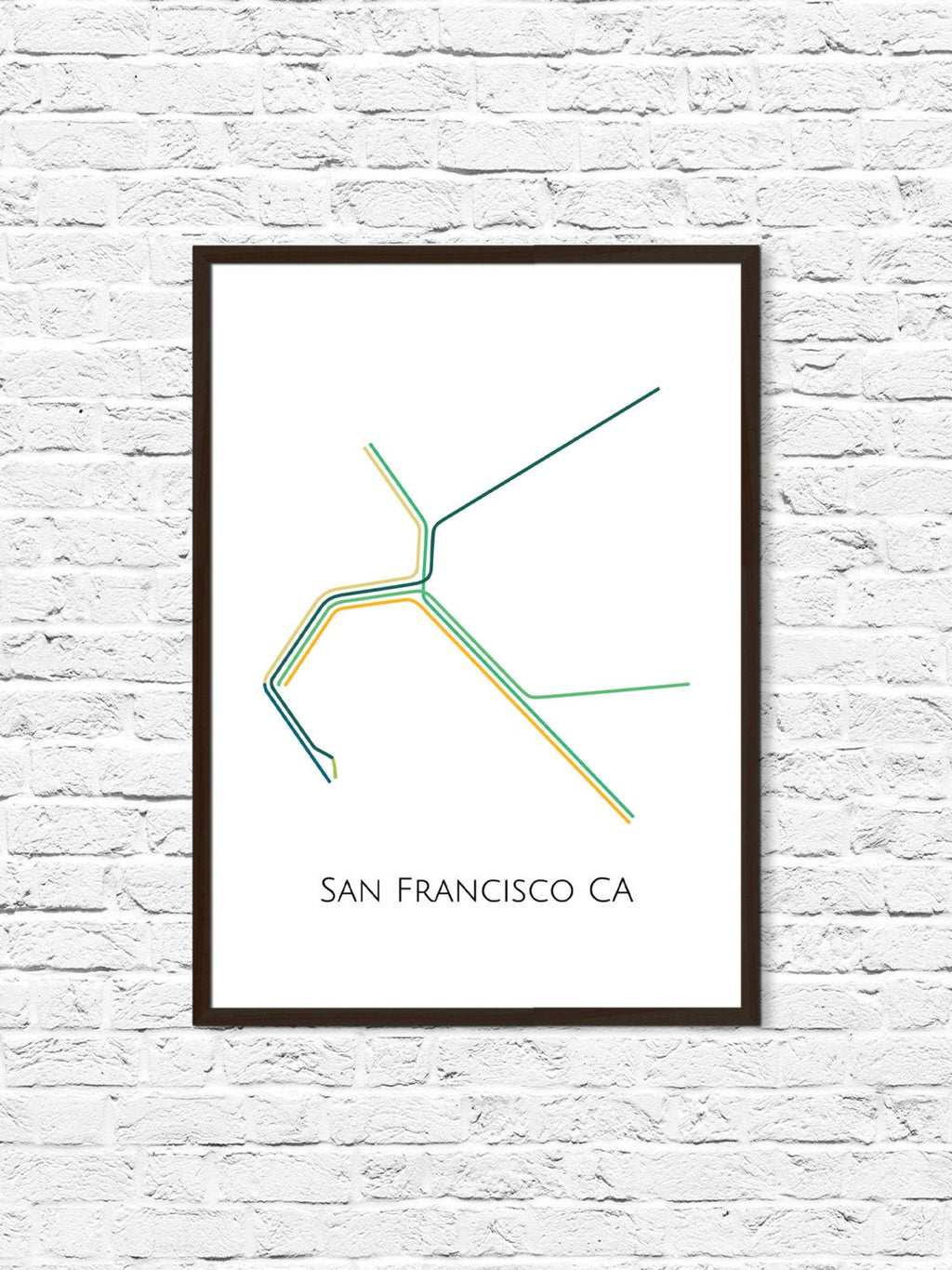 San Francisco California Metro Map - ParMar Media - 1