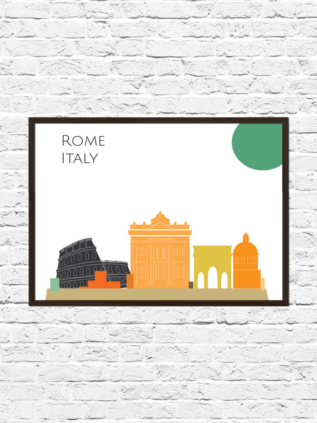 Rome Cityscape Skyline Poster Print, Rome Art, Skyline, Cityscape, Rome Print, City Print, City Poster, Wall Art, Rome Skyline, Abstract