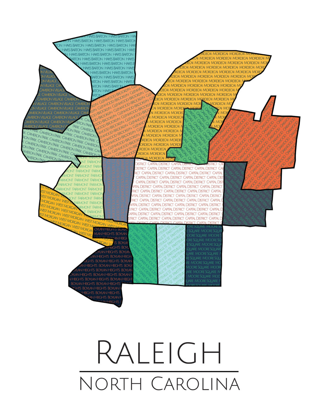 Raleigh North Carolina Poster - ParMar Media - 3