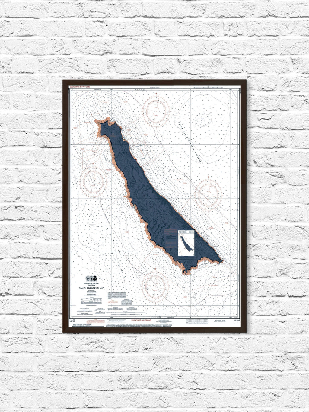 San Clemente Nautical Chart Map Art Poster Print, San Clemente Map, California Art, Coastal Print, Beach Cottage Decor, California Map Art