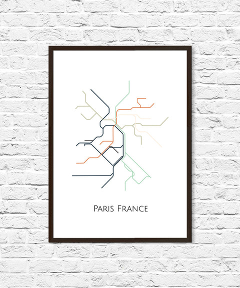 Paris Metro Map, Transit Map, Paris France Art, Paris Map Art, Subway Map, Subway Poster Art,Paris Subway, Paris Metro Map