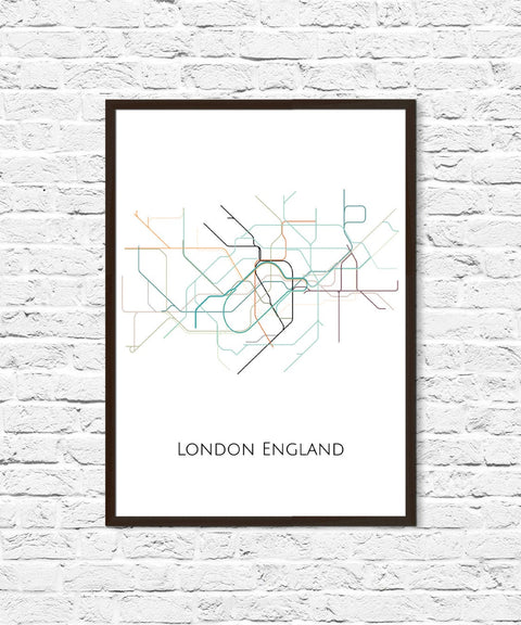 London Underground, London Tube Map, Transit Map, London Art, London Map Art, Subway Map, Subway Poster Art, London Subway