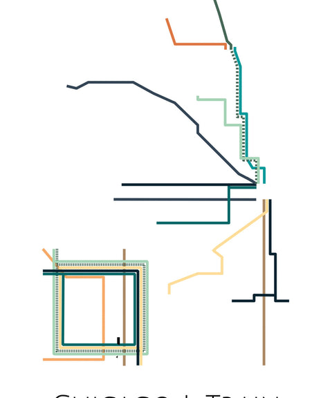 Chicago L-Train Metro Map - ParMar Media - 2