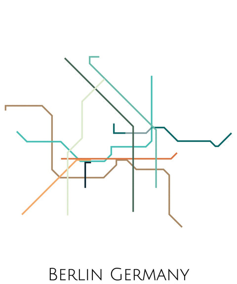Berlin Subway Map Art - ParMar Media - 2